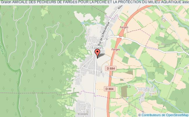 plan association Amicale Des Pecheurs De Farges Pour La Peche Et La Protection Du Milieu Aquatique Farges