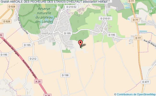 plan association Amicale Des Pecheurs Des Etangs D'helfaut Helfaut