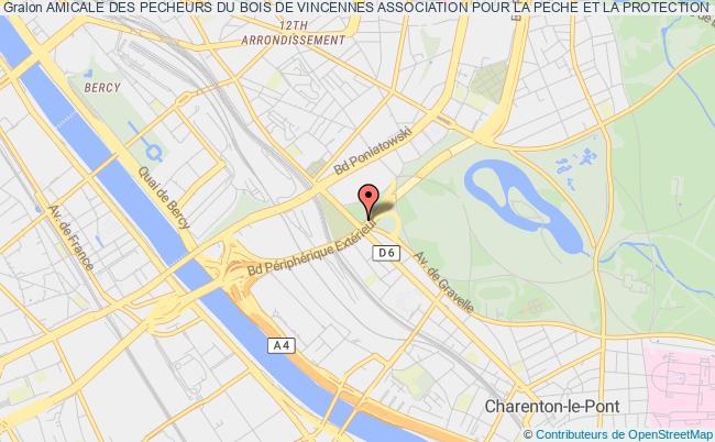 plan association Amicale Des Pecheurs Du Bois De Vincennes Association Pour La Peche Et La Protection Du Milieu Aquatique Paris