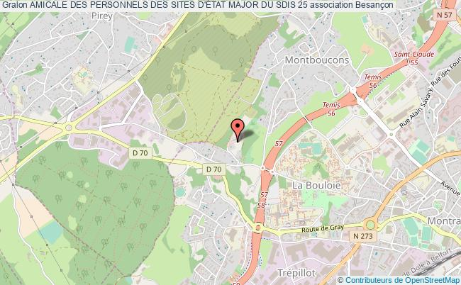 plan association Amicale Des Personnels Des Sites D'État Major Du Sdis 25