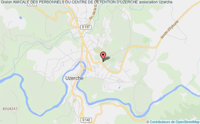 plan association Amicale Des Personnels Du Centre De Detention D'uzerche