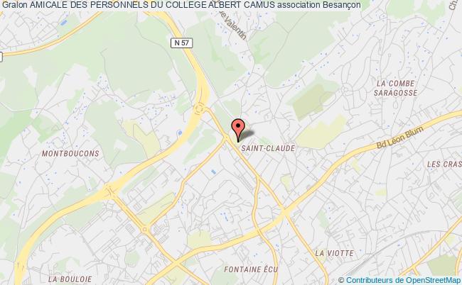 plan association Amicale Des Personnels Du College Albert Camus
