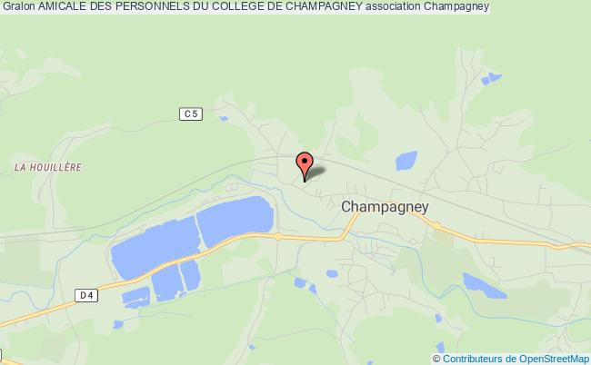 plan association Amicale Des Personnels Du College De Champagney