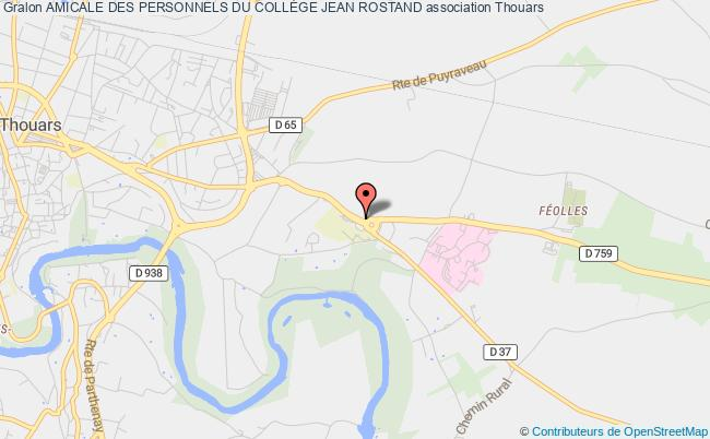 plan association Amicale Des Personnels Du CollÈge Jean Rostand Thouars