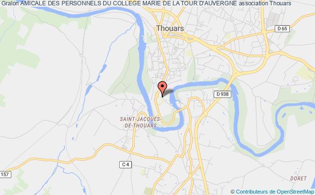 plan association Amicale Des Personnels Du College Marie De La Tour D'auvergne Thouars