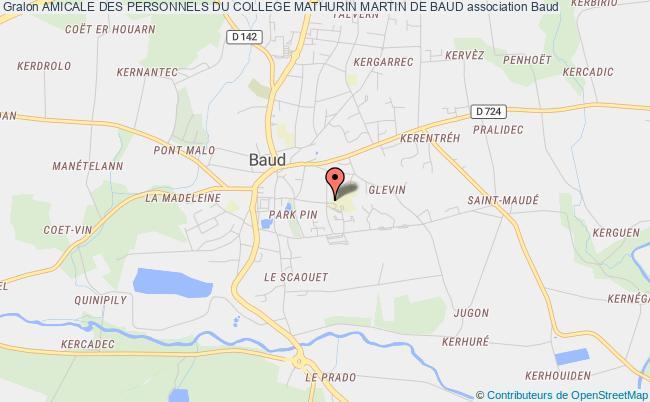plan association Amicale Des Personnels Du College Mathurin Martin De Baud Baud