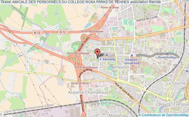 plan association Amicale Des Personnels Du College Rosa Parks De Rennes