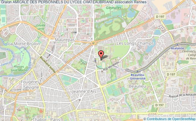 plan association Amicale Des Personnels Du Lycee Chateaubriand