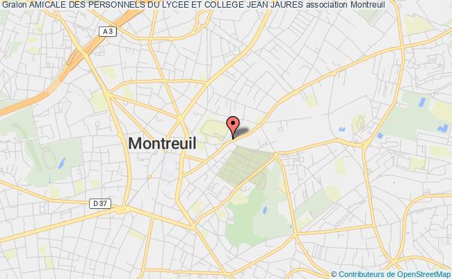 plan association Amicale Des Personnels Du Lycee Et College Jean Jaures