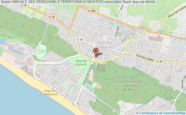 plan association Amicale Des Personnels Territoriaux Montois