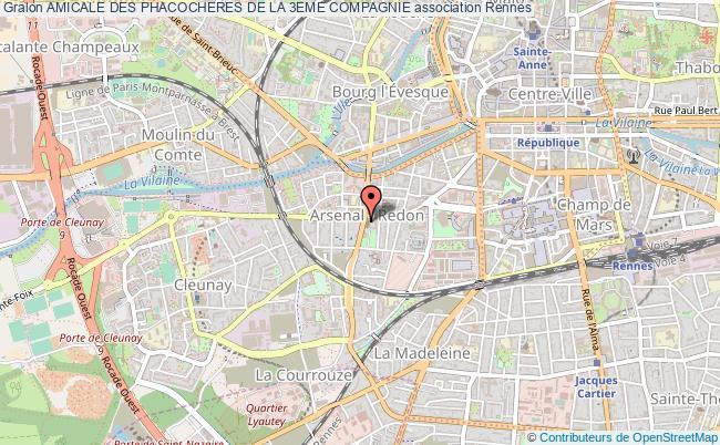 plan association Amicale Des Phacocheres De La 3eme Compagnie Rennes