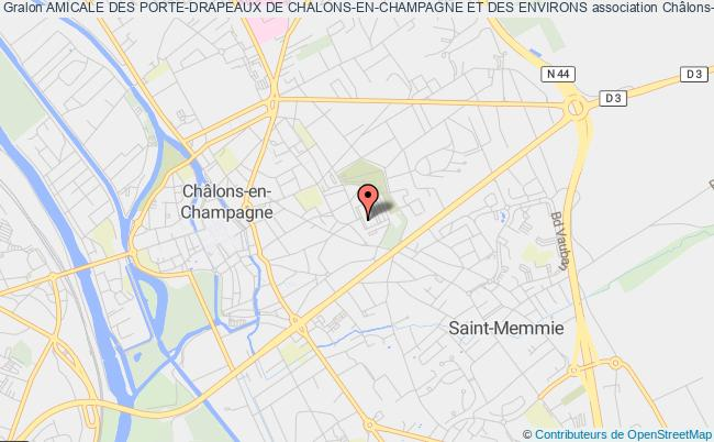 plan association Amicale Des Porte-drapeaux De Chalons-en-champagne Et Des Environs