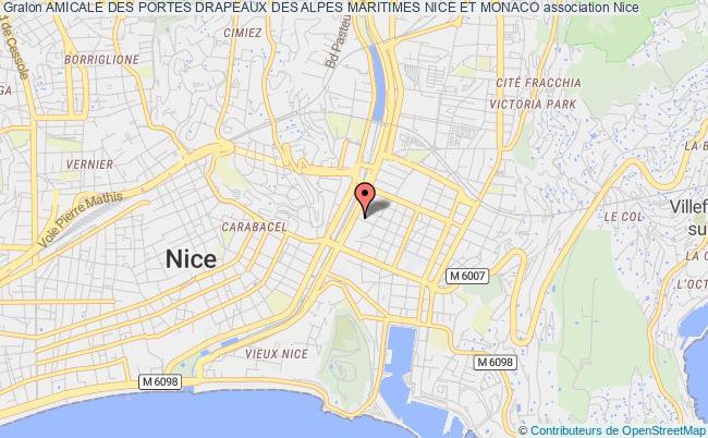 plan association Amicale Des Portes Drapeaux Des Alpes Maritimes Nice Et Monaco Nice