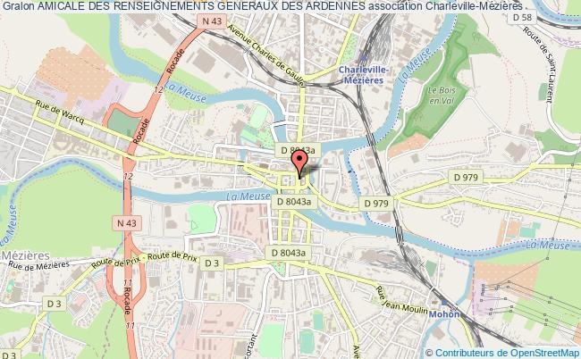 plan association Amicale Des Renseignements Generaux Des Ardennes