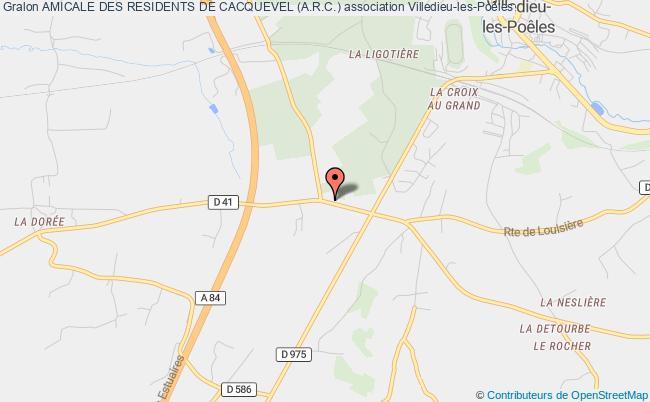 plan association Amicale Des Residents De Cacquevel (a.r.c.) Villedieu-les-Poêles