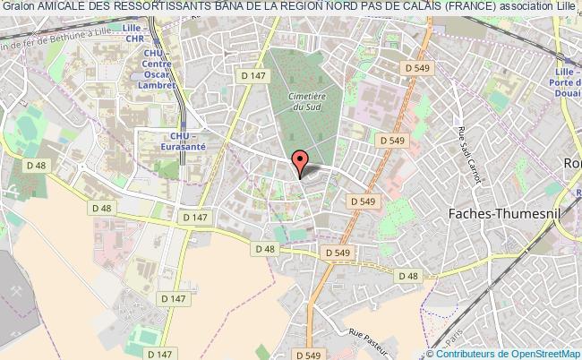 plan association Amicale Des Ressortissants Bana De La Region Nord Pas De Calais (france) Lille
