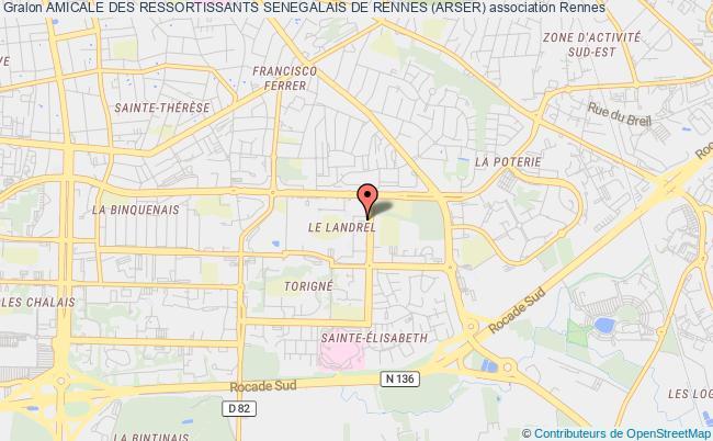 plan association Amicale Des Ressortissants Senegalais De Rennes (arser)