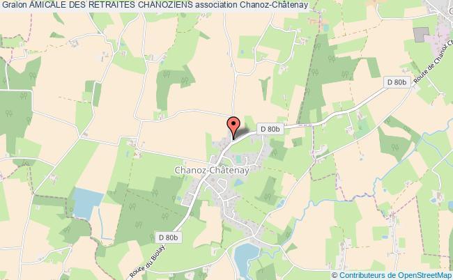 plan association Amicale Des Retraites Chanoziens Chanoz-Châtenay