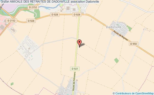 plan association Amicale Des Retraites De Dadonville