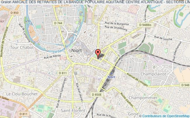 plan association Amicale Des Retraites De La Banque Populaire Aquitaine Centre Atlantique - Sections Limoges Et Niort