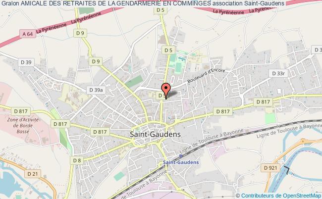plan association Amicale Des Retraites De La Gendarmerie En Comminges Saint-Gaudens