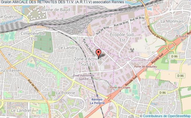 plan association Amicale Des Retraites Des T.i.v. (a.r.t.i.v) Rennes