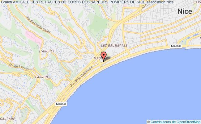 plan association Amicale Des Retraites Du Corps Des Sapeurs Pompiers De Nice Nice