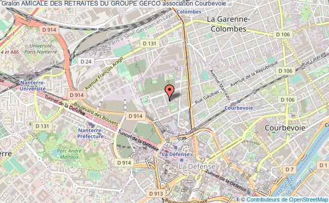 plan association Amicale Des Retraites Du Groupe Gefco Courbevoie