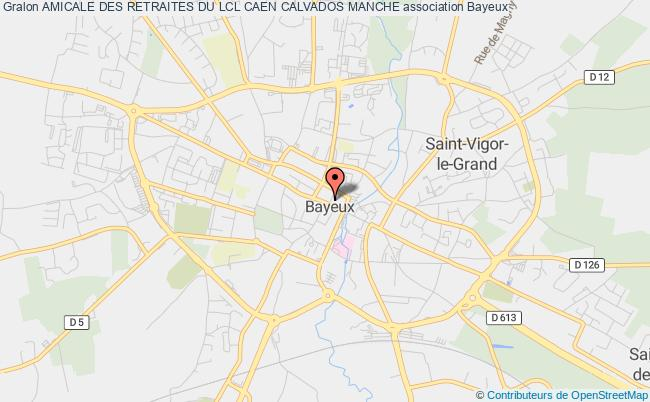plan association Amicale Des Retraites Du Lcl Caen Calvados Manche Bayeux