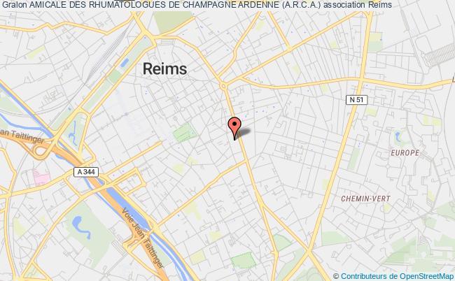 plan association Amicale Des Rhumatologues De Champagne Ardenne (a.r.c.a.) Château-Thierry