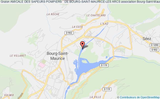 plan association Amicale Des Sapeurs Pompiers   De Bourg-saint-maurice-les Arcs