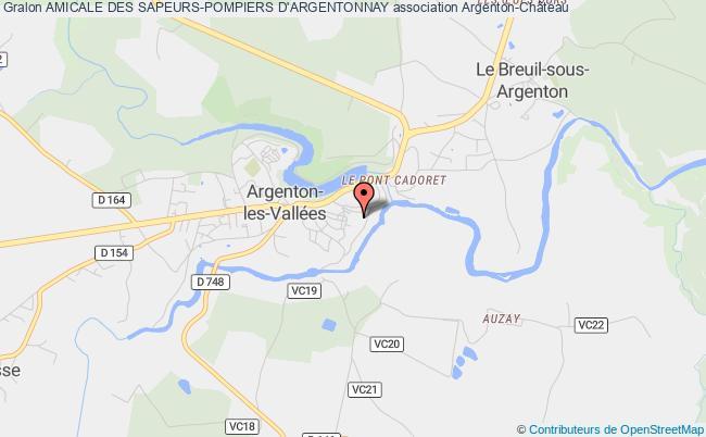 plan association Amicale Des Sapeurs-pompiers D'argentonnay