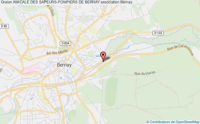 plan association Amicale Des Sapeurs-pompiers De Bernay