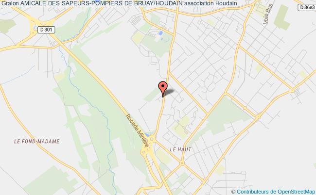 plan association Amicale Des Sapeurs-pompiers De Bruay/houdain