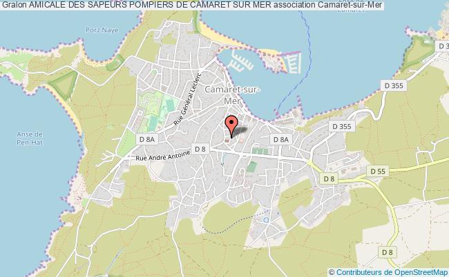 plan association Amicale Des Sapeurs Pompiers De Camaret Sur Mer