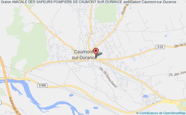 plan association Amicale Des Sapeurs Pompiers De Caumont Sur Durance