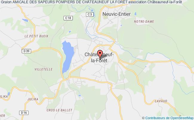 plan association Amicale Des Sapeurs Pompiers De ChÂteauneuf La ForÊt