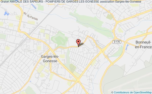 plan association Amicale Des Sapeurs - Pompiers De Garges Les Gonesse Garges-lès-Gonesse
