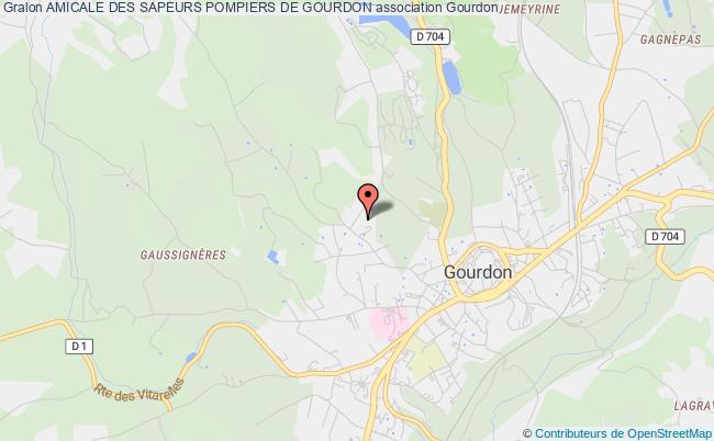 plan association Amicale Des Sapeurs Pompiers De Gourdon