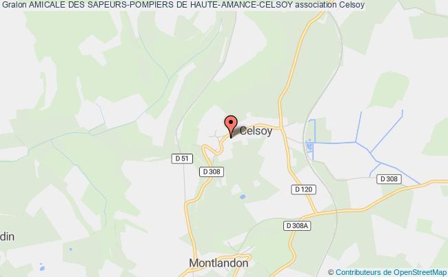 plan association Amicale Des Sapeurs-pompiers De Haute-amance-celsoy