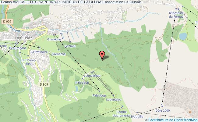 plan association Amicale Des Sapeurs-pompiers De La Clusaz