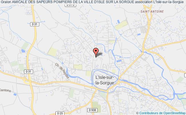 plan association Amicale Des Sapeurs Pompiers De La Ville D'isle Sur La Sorgue