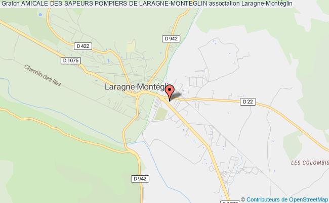 plan association Amicale Des Sapeurs Pompiers De Laragne-monteglin