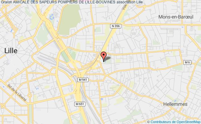 plan association Amicale Des Sapeurs Pompiers De Lille-bouvines