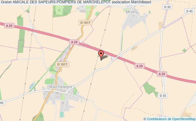 plan association Amicale Des Sapeurs-pompiers De Marchelepot