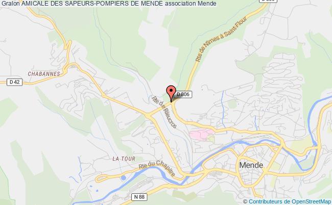 plan association Amicale Des Sapeurs-pompiers De Mende