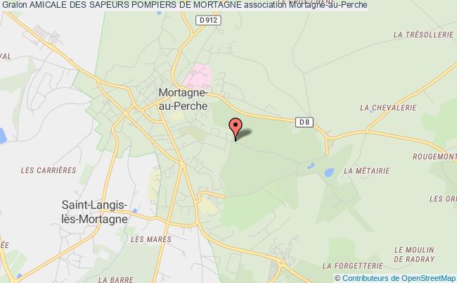 plan association Amicale Des Sapeurs Pompiers De Mortagne