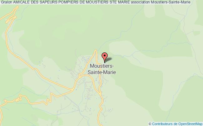 plan association Amicale Des Sapeurs Pompiers De Moustiers Ste Marie Moustiers-Sainte-Marie