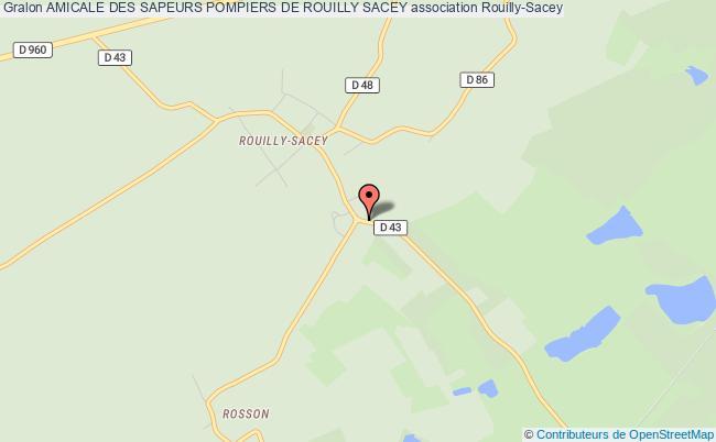 plan association Amicale Des Sapeurs Pompiers De Rouilly Sacey