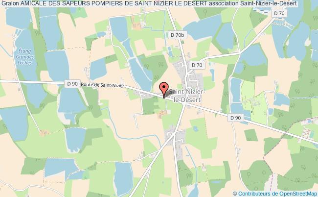 plan association Amicale Des Sapeurs Pompiers De Saint Nizier Le Desert